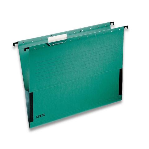 Подвесная регистратура папка LEITZ L-19860155 ALFA А4 сбок.огран.зеленая