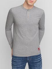 BTS010997 фуфайка мужская, серый меланж