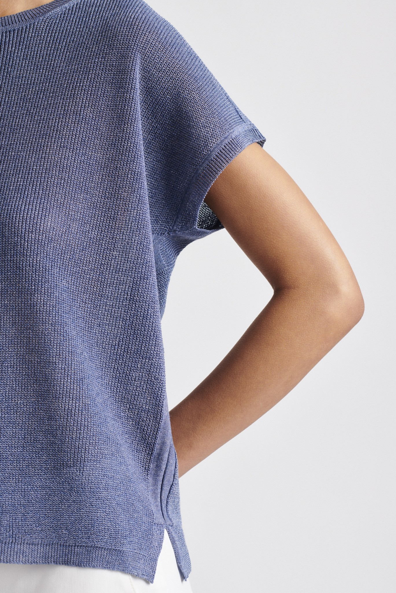 ELLY - Легкий джемпер с коротким рукавом