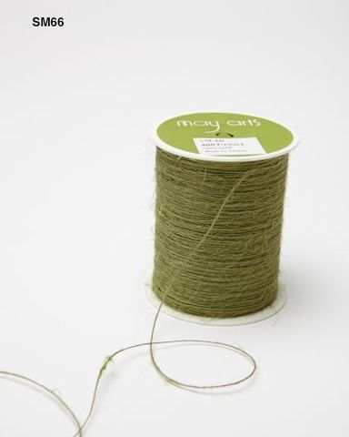 Шпагат джутовый May Arts -зеленый