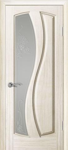 Дверь Океан Neo Classica Шарм , стекло белое, цвет ясень белый жемчуг, остекленная