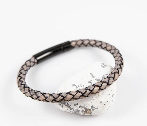 Мужской браслет шнур из натуральной кожи