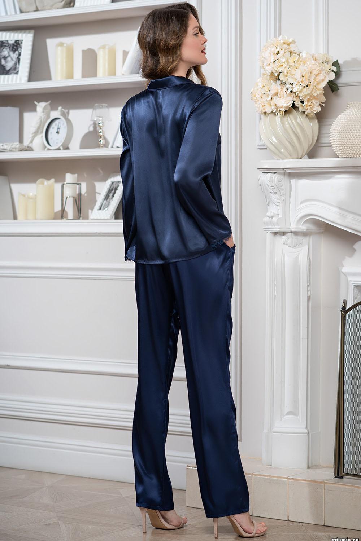 Комплект темно-синий Mirabella блуза и брюки