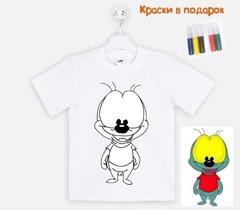 """018_2511 Футболка-раскраска """"Вжик"""" с краскамм"""