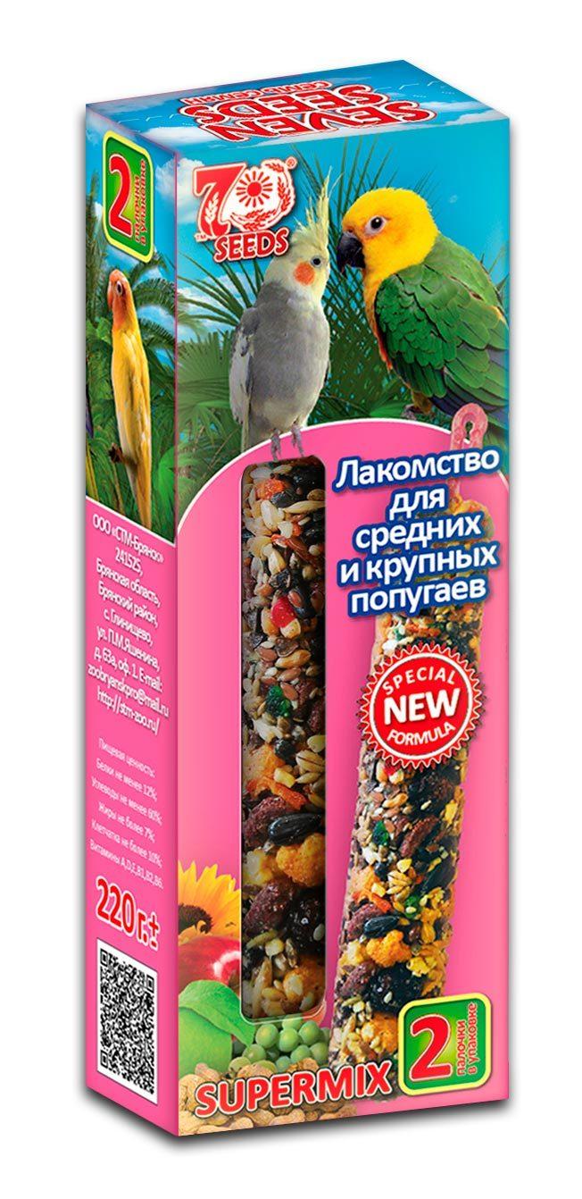 Новинки Палочки для средних и крупных попугаев с орехом и фруктами Seven Seeds Supermix pop_lak_sredkrup.jpg