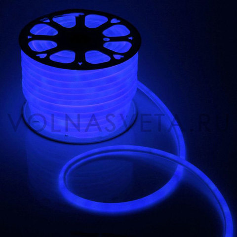 Гибкий неон D16 - круглый, светодиодный | Синий - 50м