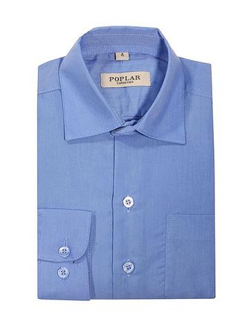 1001-4 рубашка детская. синяя