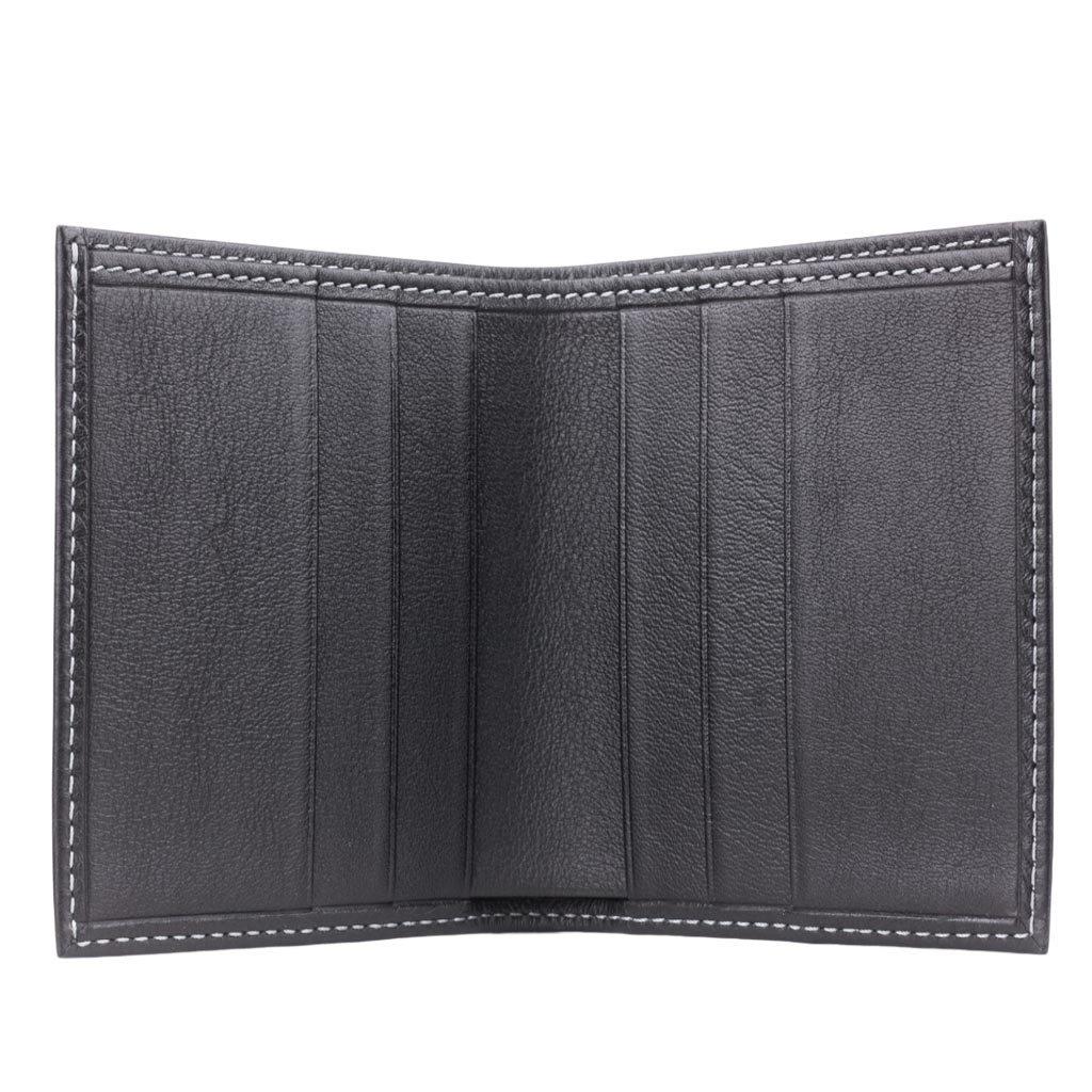 Портмоне мужское Pochette Easy из натуральной кожи теленка, черного цвета