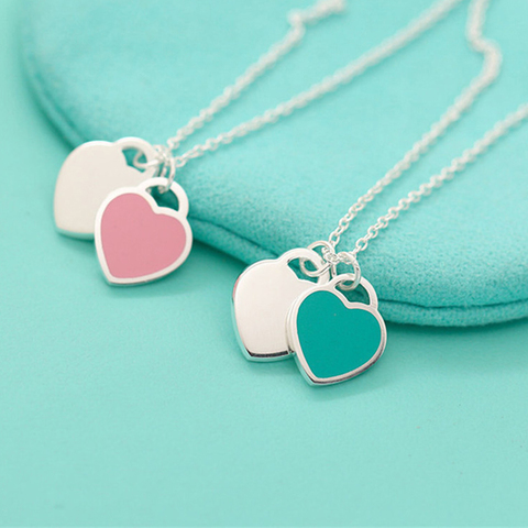 Подвеска Tiffany Mini Double Heart Tag Pendant