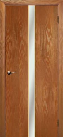 Дверь Дубрава Сибирь Айвенго, зеркало с рисунком/молдинг золото, цвет миланский орех, остекленная