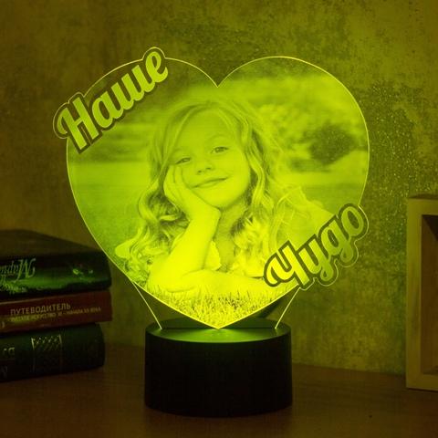 Ночник Фото-светильник с большой надписью