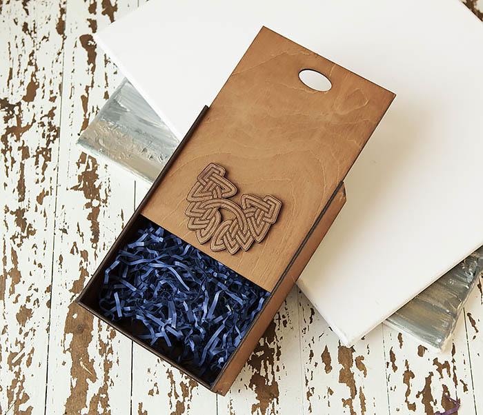 BOX230-2 Фирменная коробка для подарков коричневого цвета (18*26*7,5 см) фото 06