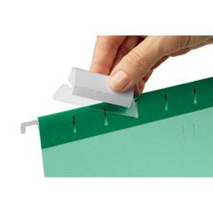 Подвесная регистратура ярлычки д/подвесных папок мягкий пласт.ESSELTE 94514