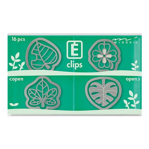 Скрепки Midori E-Clips Leaf (16 шт)