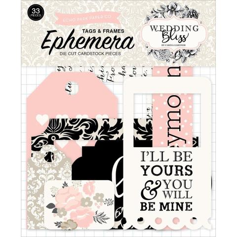 Набор высечек Wedding Bliss Ephemera Cardstock- Frames & Tags 33шт.
