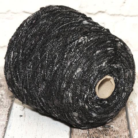 Фасонная пряжа Ilaria 120 с серыми камушками