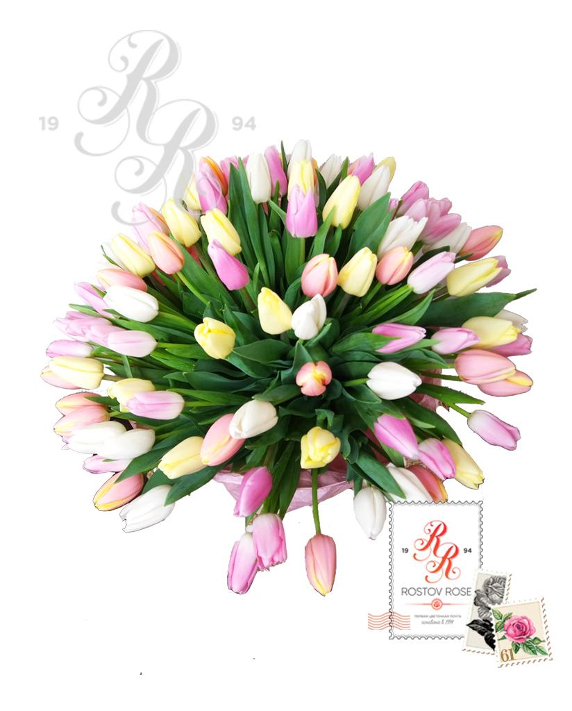 25 Бело-желто-розовый микс