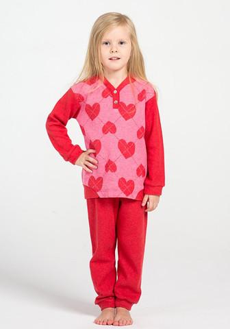 Теплый детский домашний комплект с сердечками