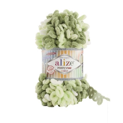 Купить Пряжа Ализе Пуффи Файн Колор Код цвета 6068 | Интернет-магазин пряжи «Пряха»