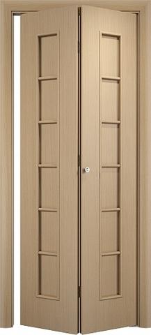 Дверь складная Верда С-12 (2 полотна), цвет беленый дуб, глухая