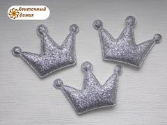 Мягкие декор корона серебряная