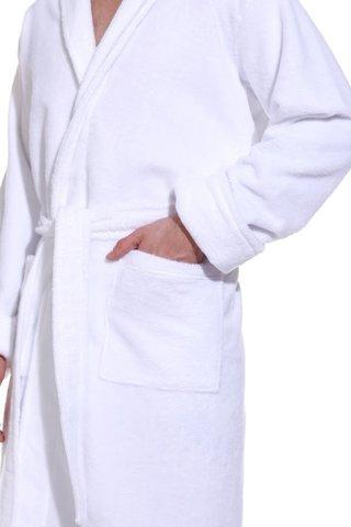 NATUREL арт.908 белый  бамбуковый  мужской халат  PECHE MONNAIE  Россия
