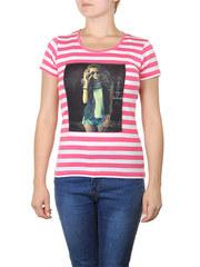 6812-1 футболка женская, розовая