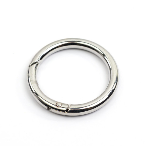 """Карабин-кольцо 31мм """"Серебро"""""""