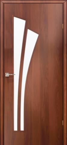 Дверь Фрегат ПО-011, матовое, цвет итальянский орех, остекленная