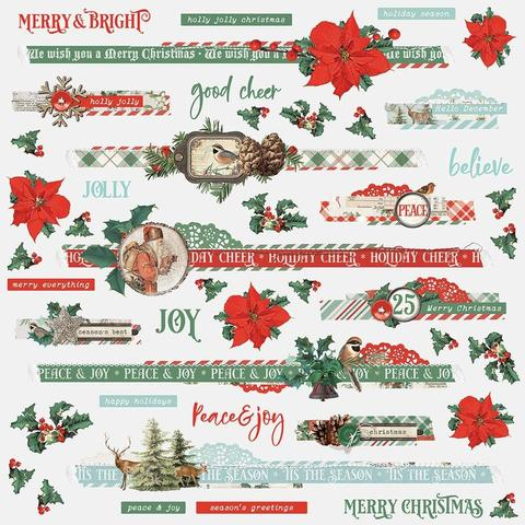 Стикеры 30х30см Country Christmas Cardstock Stickers- Border