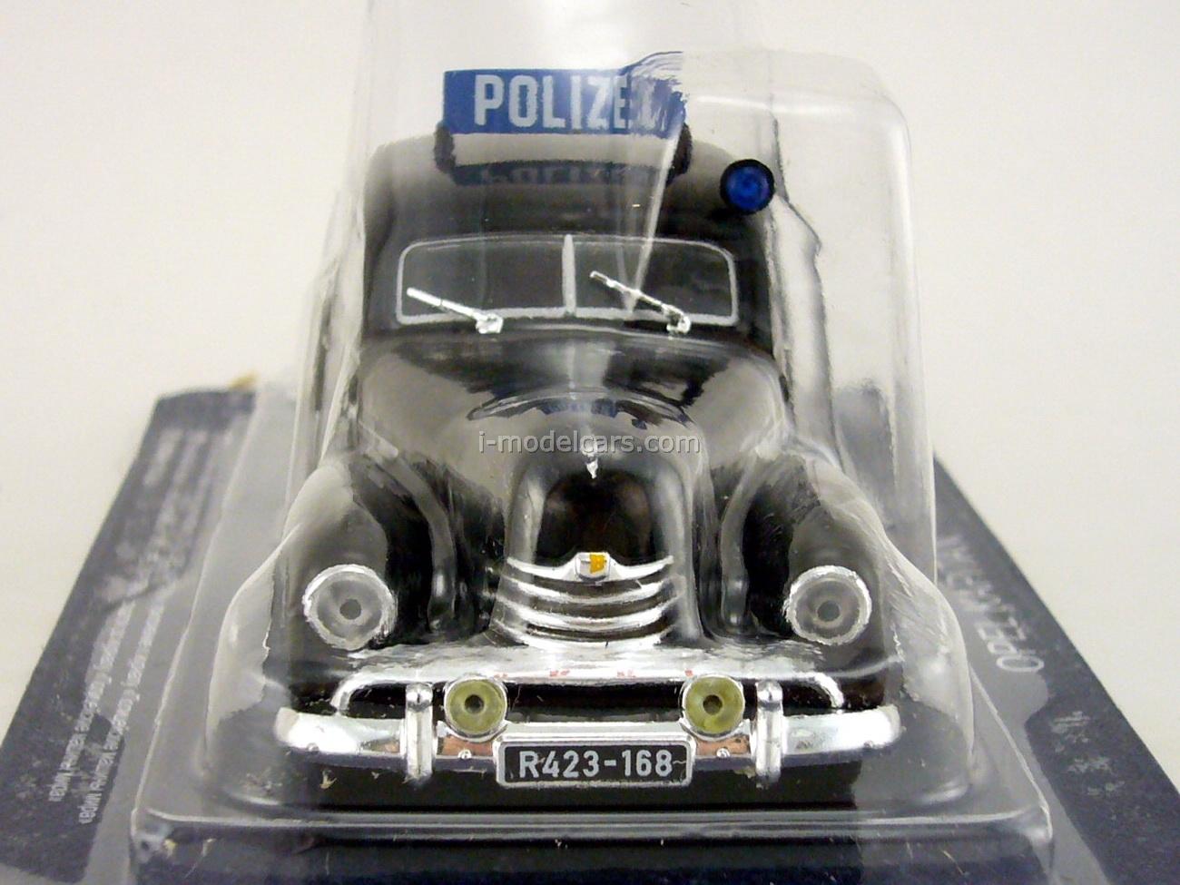 Opel Kapitan 1951 East Germany Police 1:43 DeAgostini World's Police Car #68