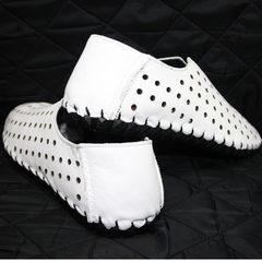 Мужские мокасины белые Luciano Bellini 107704 White.