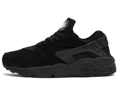 Кроссовки Женские Nike Air Huarache Black Suede