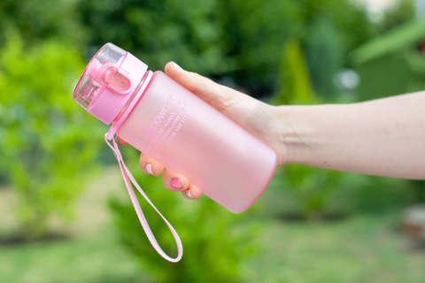 Бутылка для воды Powcan 400 мл - Pink матовая