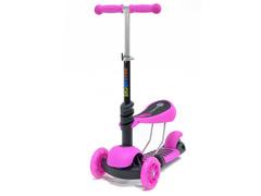 Детский самокат-беговел 3 в 1 розовый