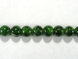 Бусина из хромдиопсида, шар гладкий 6 мм