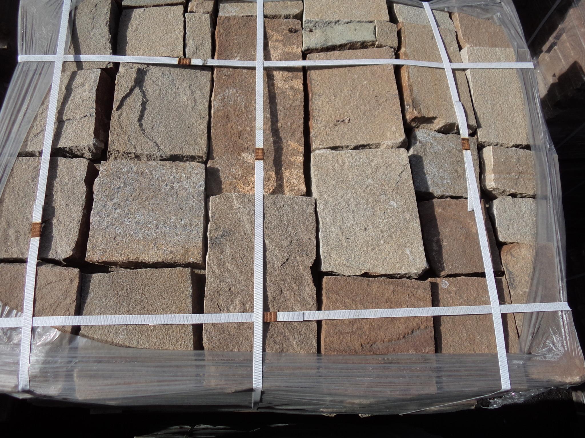Набор Брусчатки песчаник колотый Ясень на поддоне