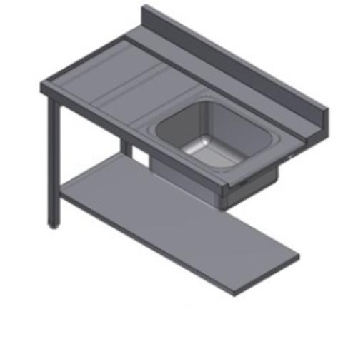 фото 1 Стол для посудомоечной машины Kayman СПМ-111/1207 П на profcook.ru