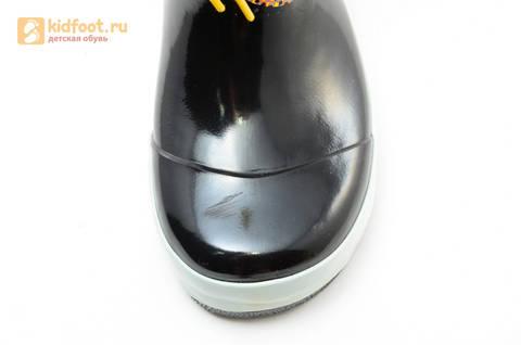 Резиновые сапоги Трансформеры (Transformers) на шнурках для мальчиков, цвет черный. Изображение 8 из 10.