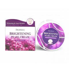 Deoproce Moisture Brightening Pearl - Крем для лица питательный с экстрактом жемчуга