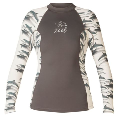 Лайкра женская XCEL OCEAN RAMSEY COLLECTION WOMENS UV 6OZ L/S WITH KEY POCKET SPRING 2018