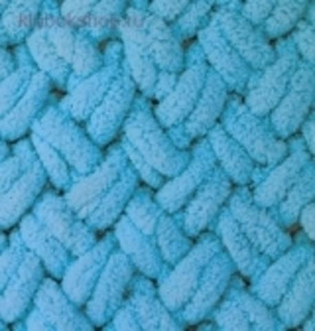 Пряжа Puffy (Alize) 16 Голубой Сочи - фото