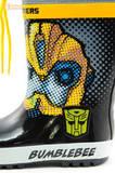 Резиновые сапоги Трансформеры (Transformers) на шнурках для мальчиков, цвет черный. Изображение 9 из 10.