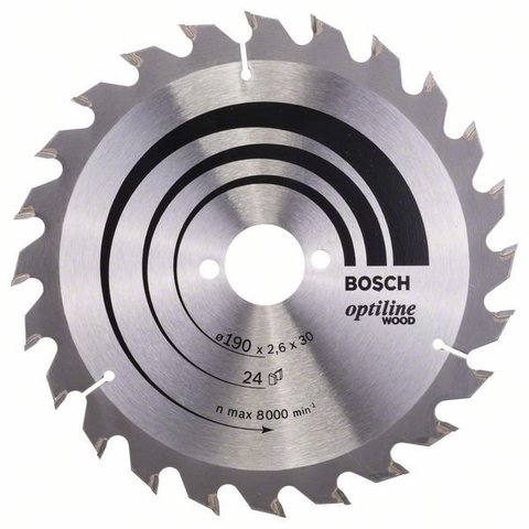 Пильный диск Optiline Wood 190x30x1,6 мм