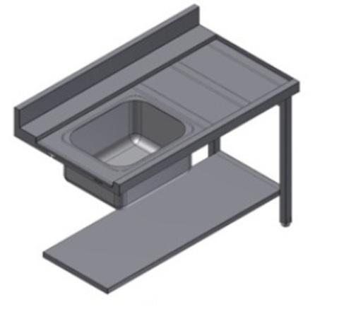 фото 1 Стол для посудомоечной машины Kayman СПМ-111/1207 Л на profcook.ru