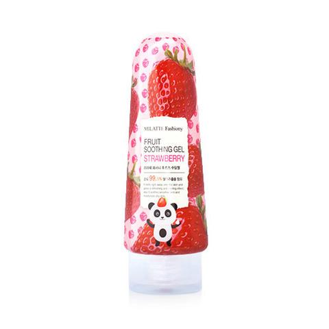 Гель MILATTE Fashiony Fruit Soothing Gel Strawberry 200g