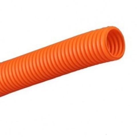 Труба гофр.ПНД d 20 с зондом (100 м) легкая оранжевая ТDM