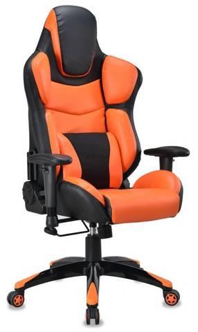 BLACK+OR одна подушка черный/оранжевый искусственная кожа