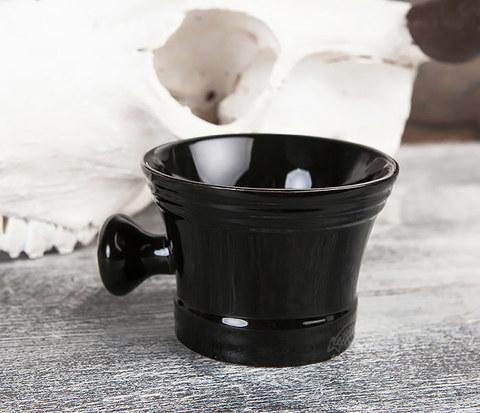 Большая керамическая чаша для бритья с рукояткой