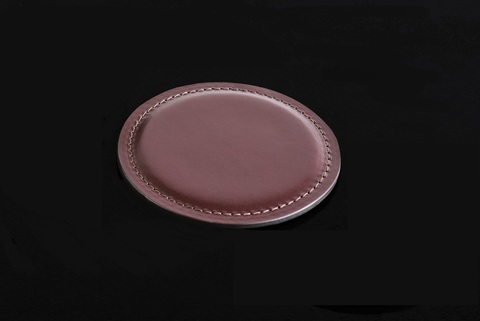 Костер - подстаканник LUXE из кожи Full Grain Bologna Brown